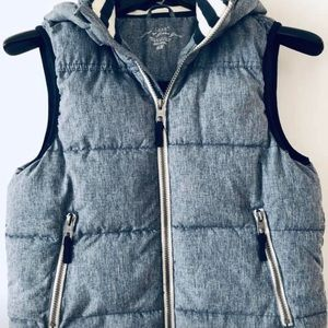 Boys puffer vest with hoodie